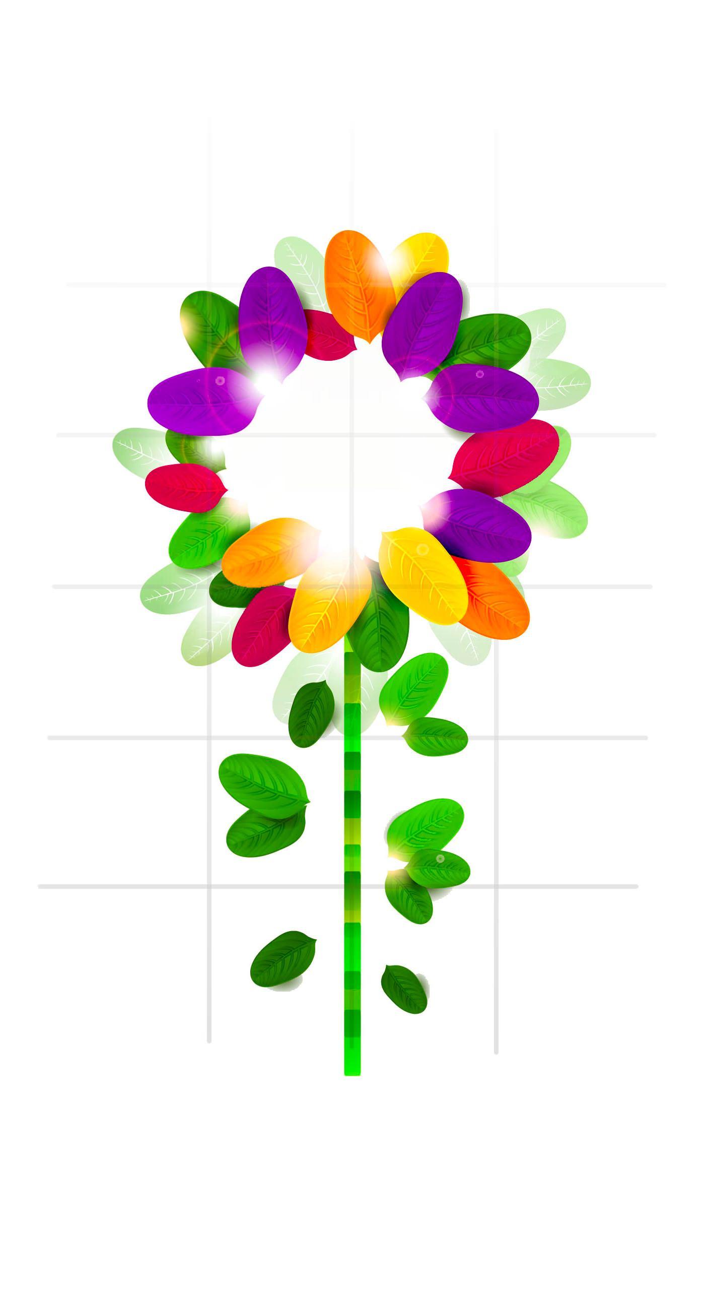 模様イラスト花女子向け棚緑カラフル Iphone7plus壁紙 Iphone 7