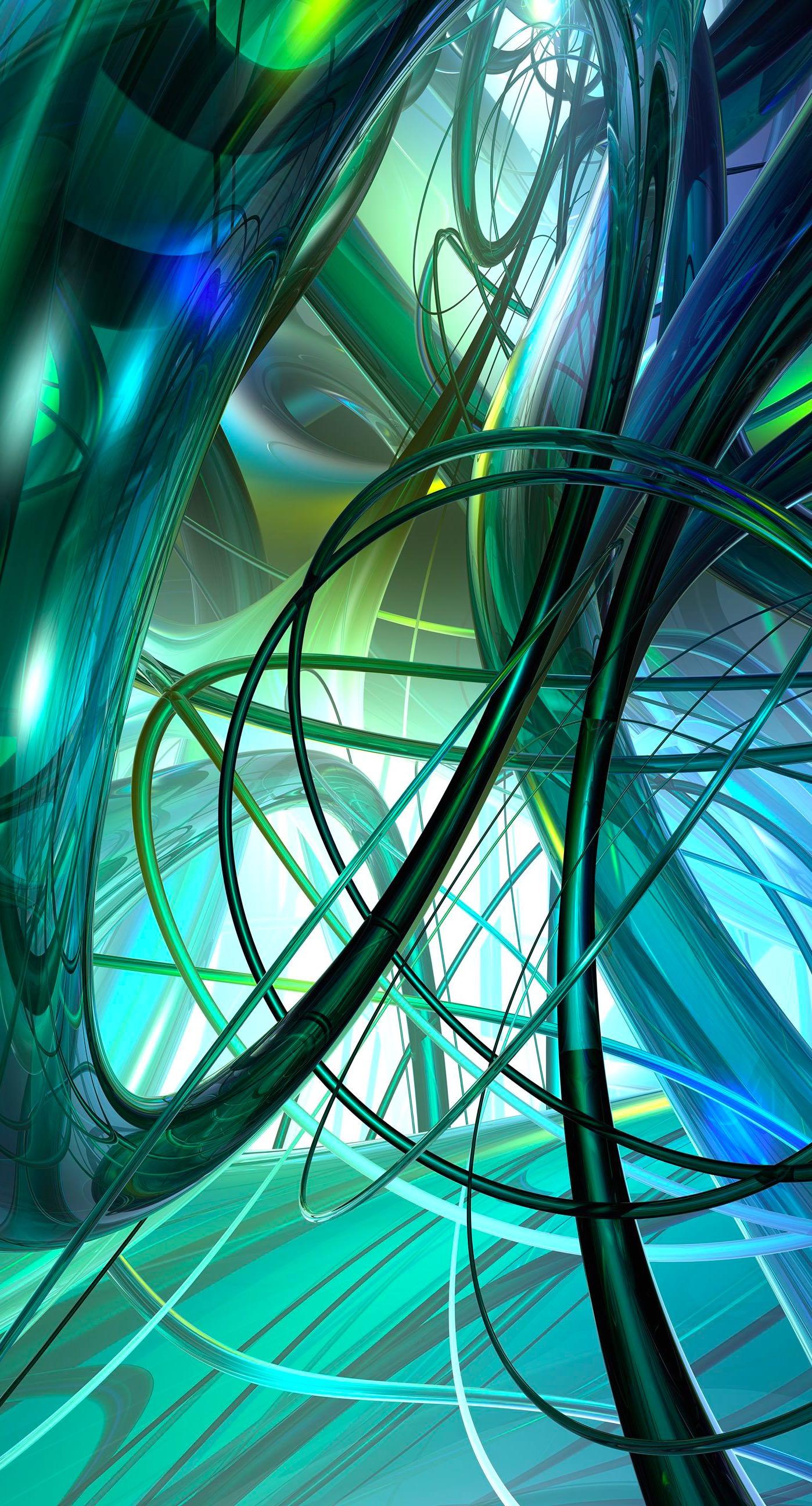 模様3dクール緑青 Wallpaper Sc Iphone7plus壁紙