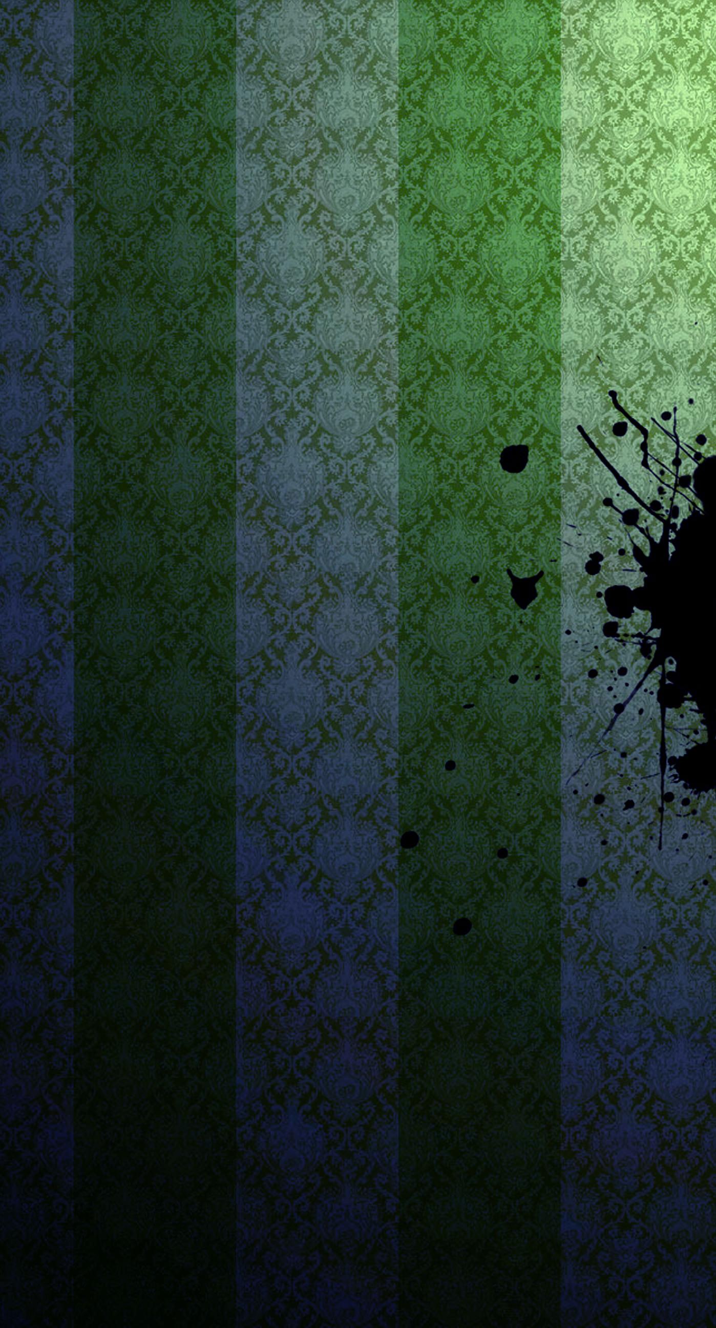 Pattern Stripe Green Black Wallpaper Sc Iphone7plus