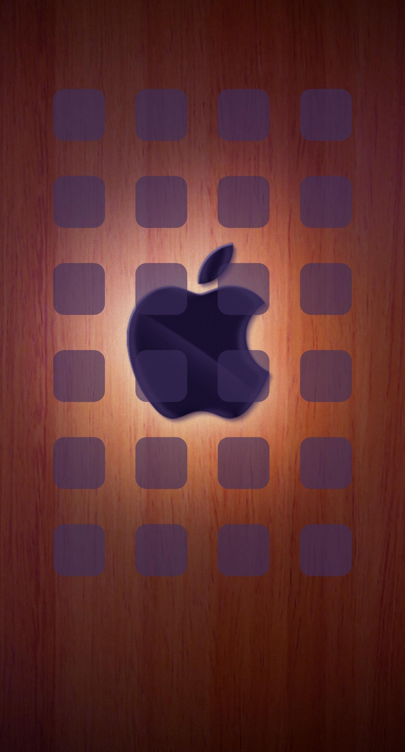 Appleロゴ棚クール板茶色 Wallpaper Sc Iphone7plus壁紙