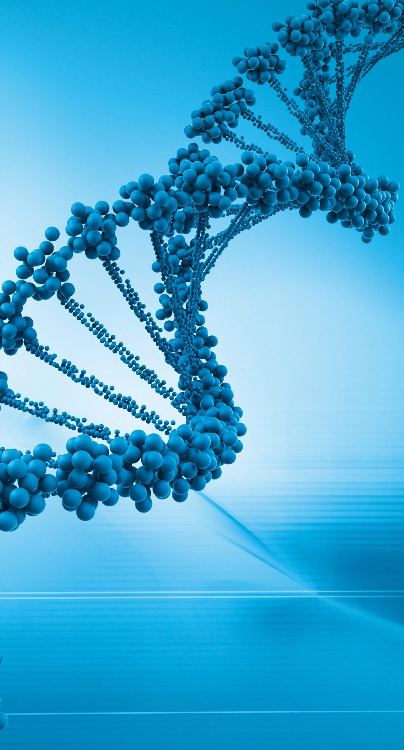 Cool Dna Blue Gene Genome Wallpaper Sc Iphone7plus