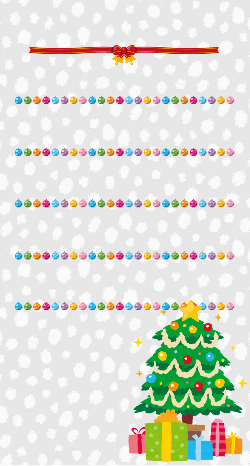 Shelf Christmas tree colorful silver | wallpaper.sc iPhone8