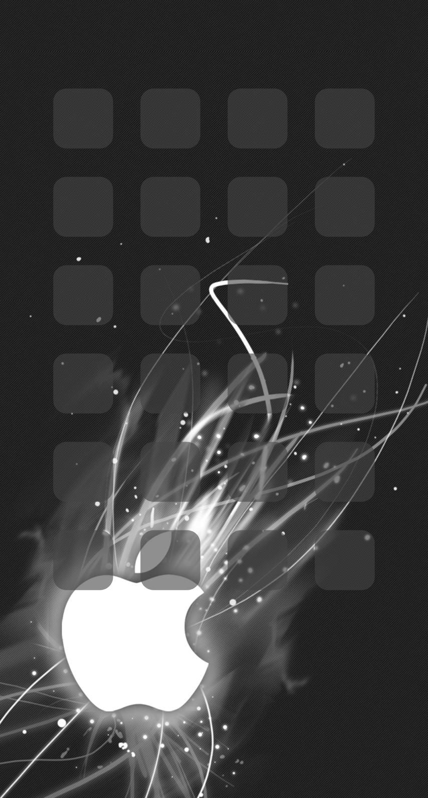Appleロゴ棚クール黒 Wallpaper Sc Iphone8壁紙