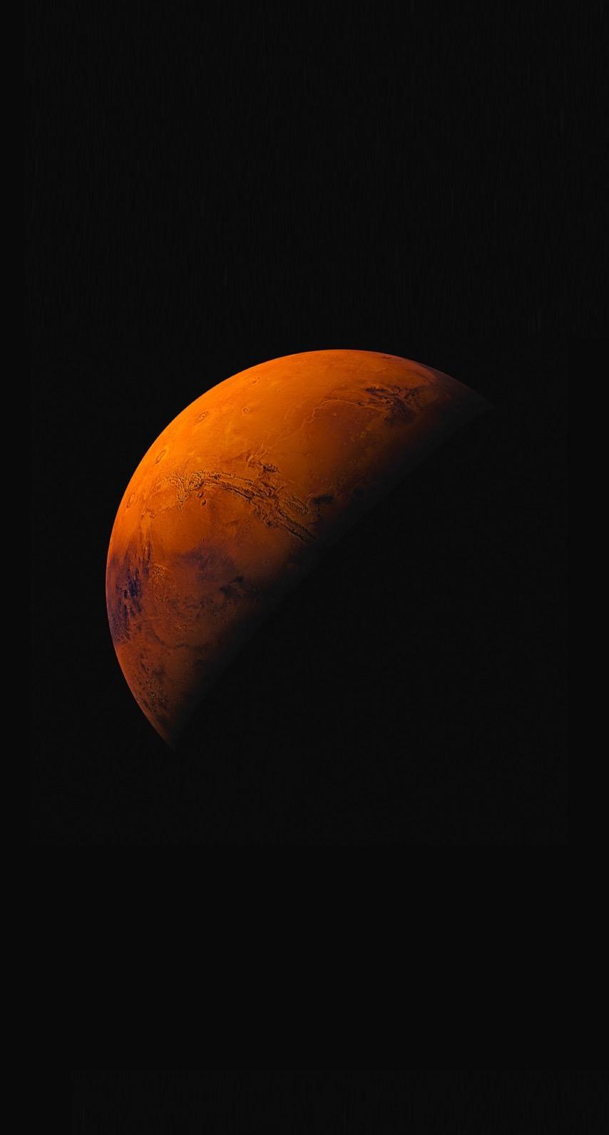 Planeta Naranja Negro Ios9 Wallpapersc Iphone8