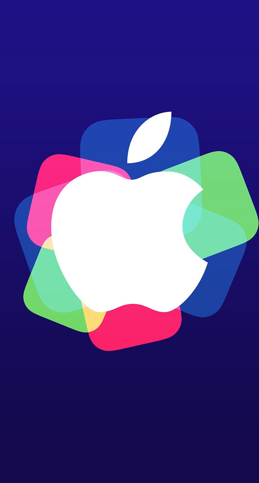 Apple Logo Event Purple Colorful Wallpaper Sc Iphone8