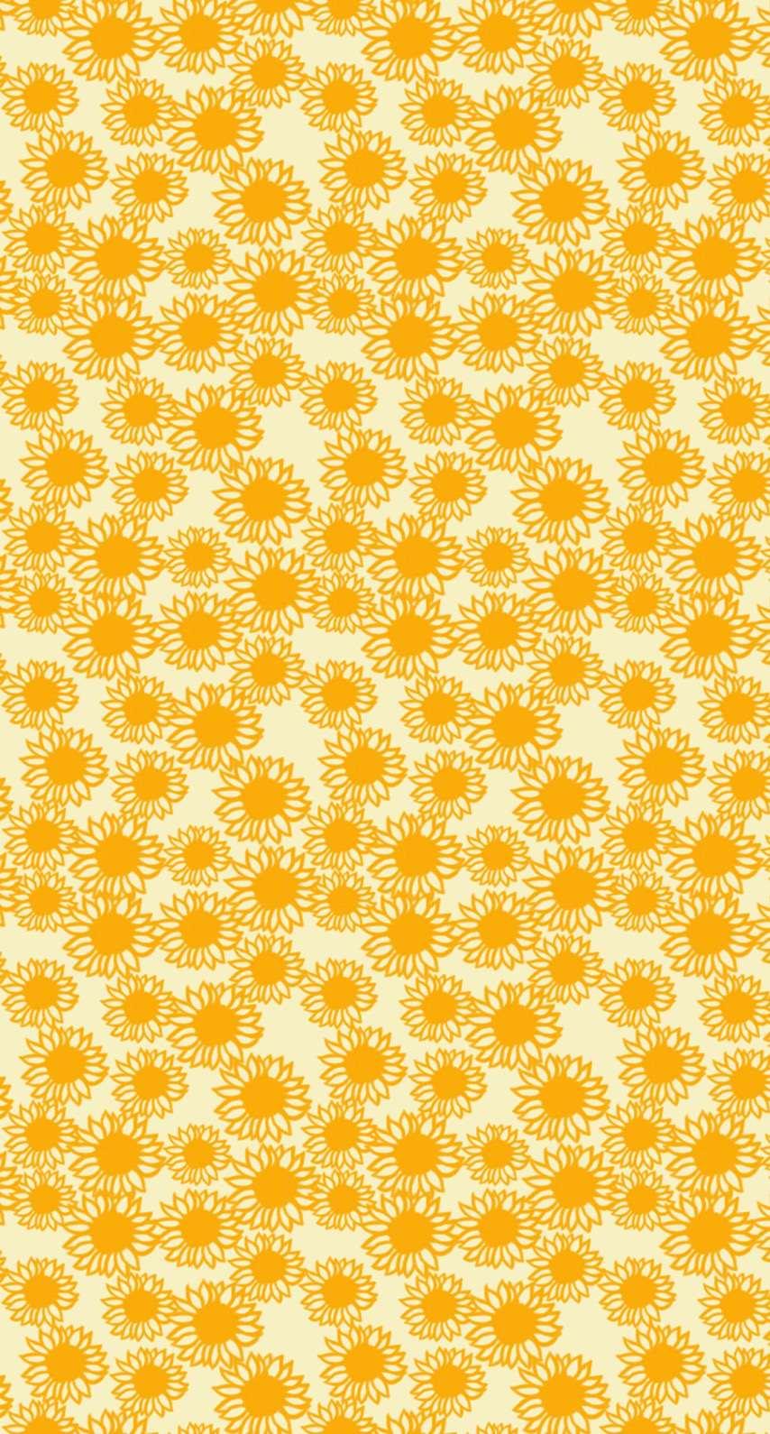 Pattern Sunflower Yellow Women Friendly Wallpaper Sc Iphone8