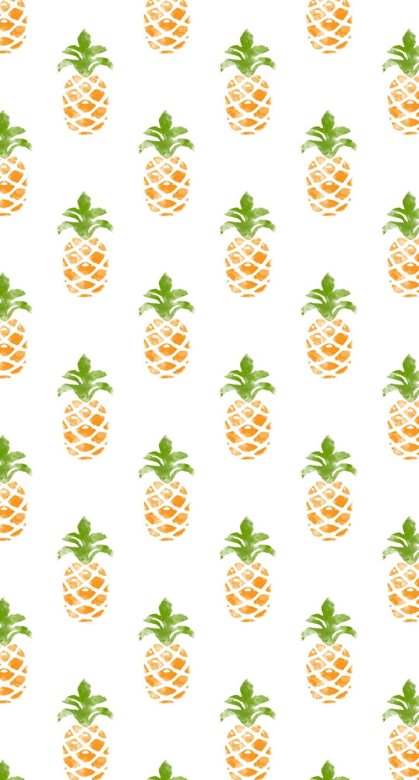 模様イラストフルーツパイナップル緑黄色女子向け Wallpaper Sc Iphone8壁紙