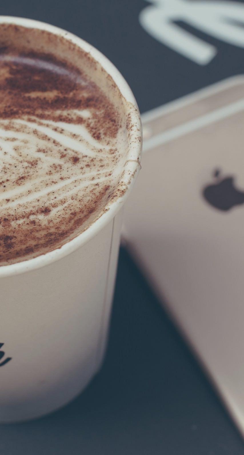 コーヒーフード女子向けiphone Wallpaper Sc Iphone8壁紙