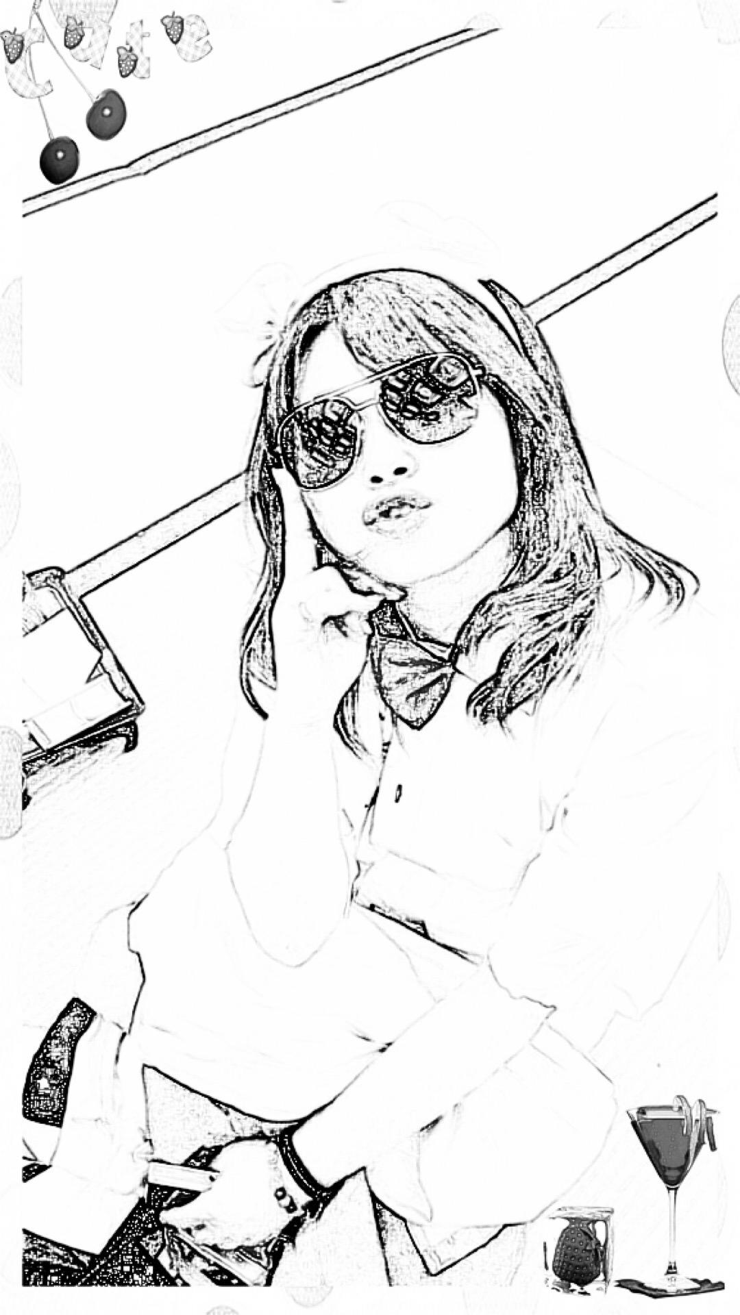 Girl Drawing Drawing Wallpaper Sc Iphone8plus