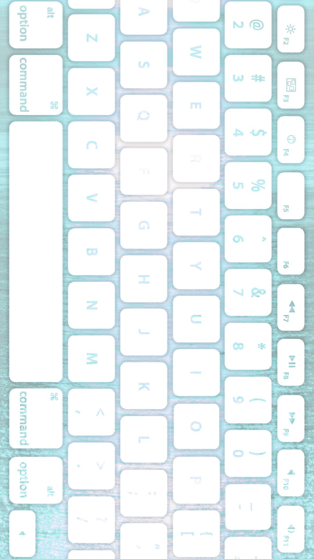 海キーボード青白 Wallpaper Sc Iphone8plus壁紙