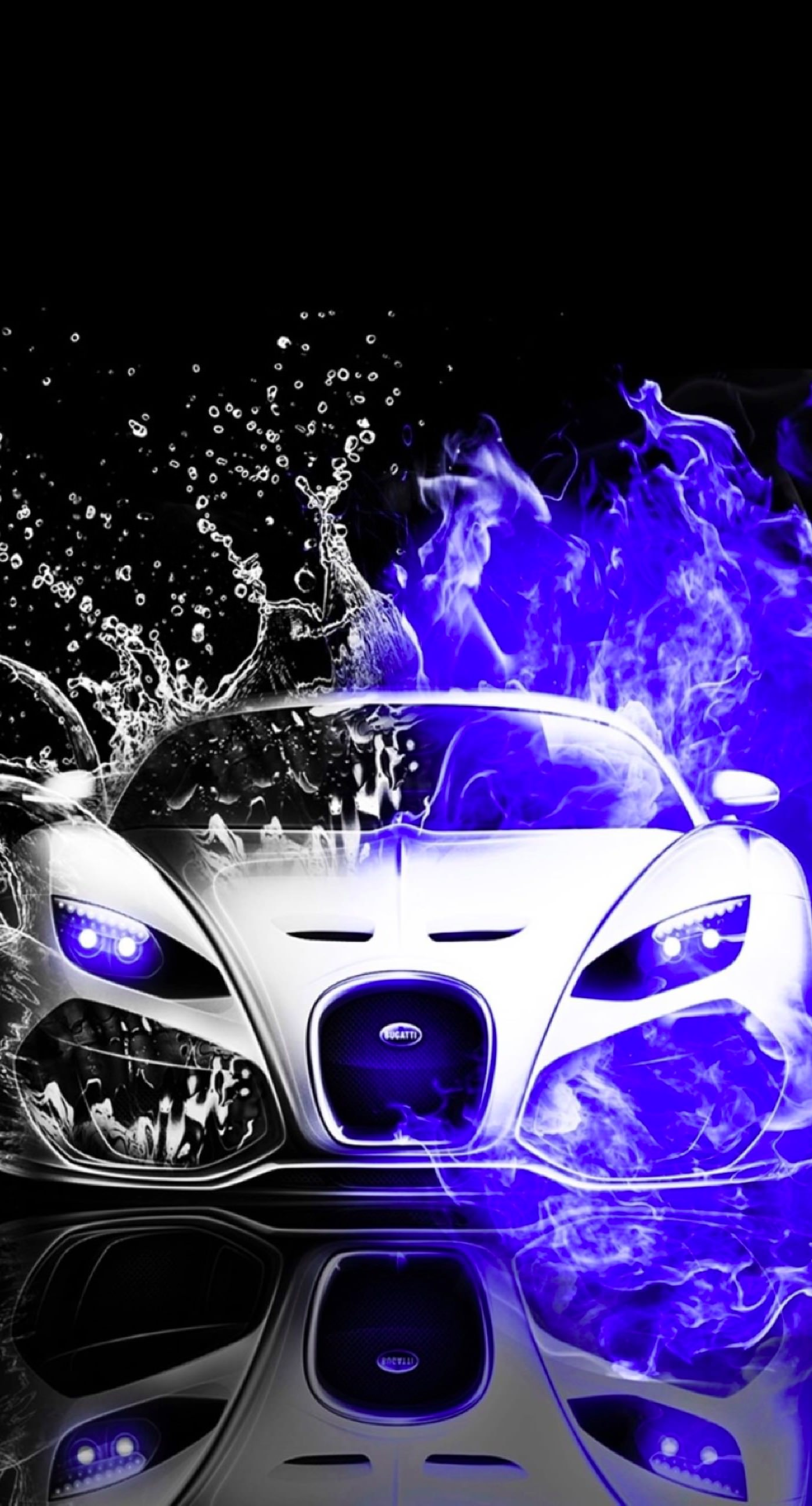 Cool Cars Blue Water Black And White Wallpaper Sc Iphone8plus