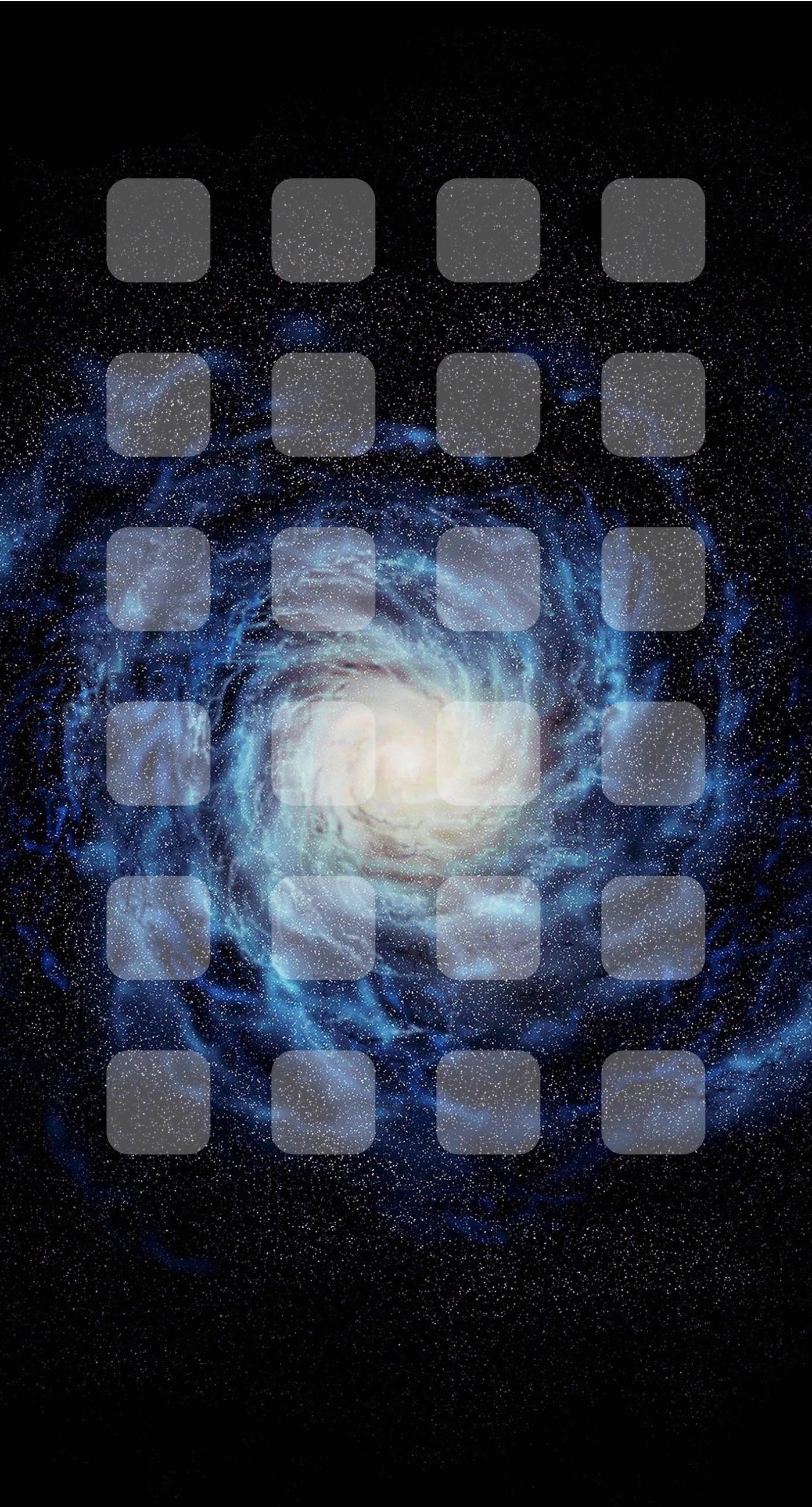 Space Galaxy Black Shelf Wallpaper Sc Iphone8plus