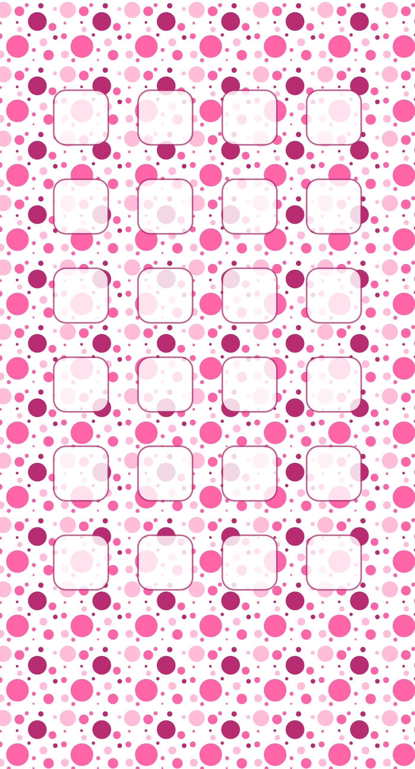 Polka Dot Pattern Pink Purple Shelf Wallpaper Sc Iphone8plus