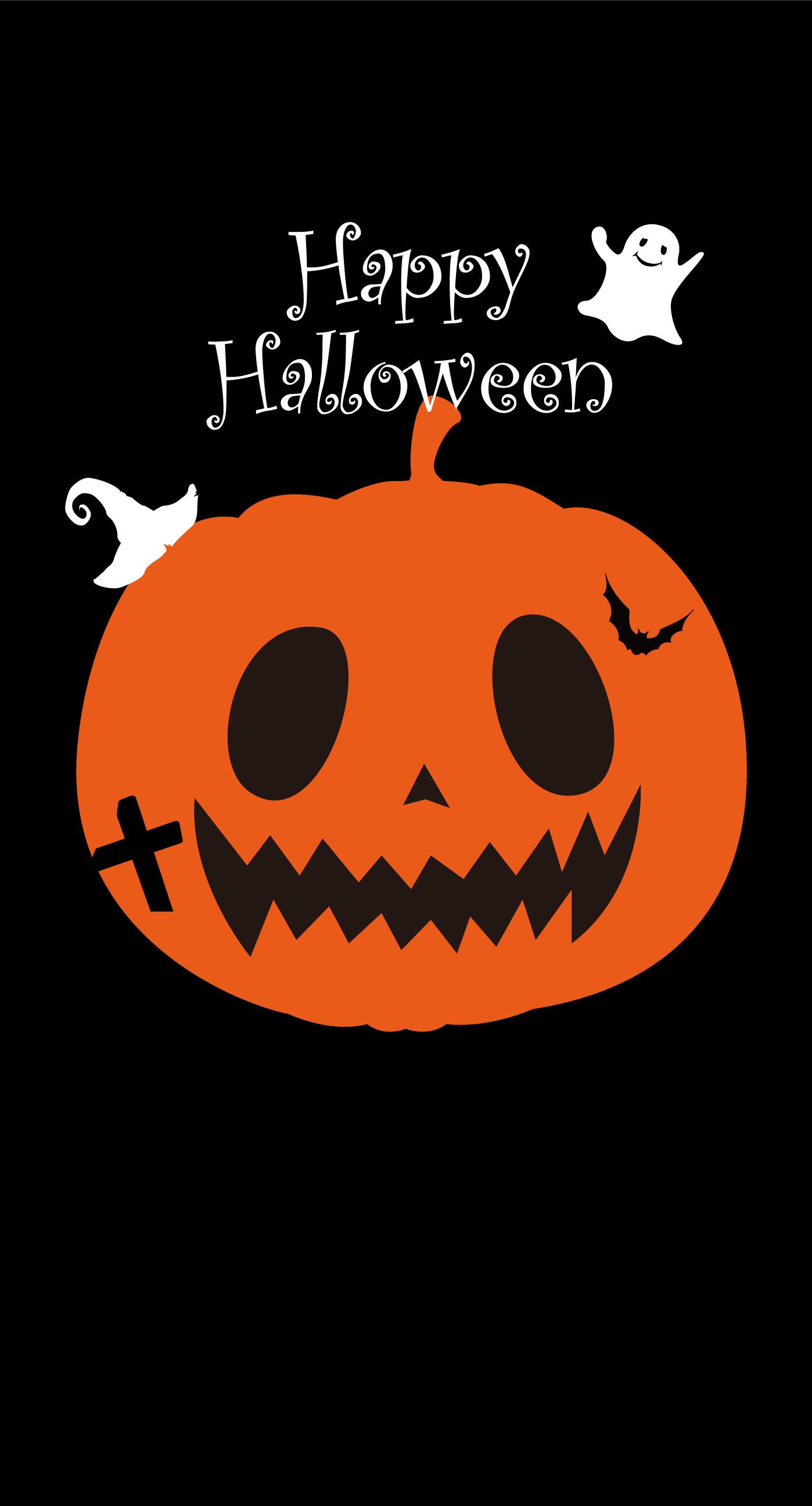 Illustration Halloween Pumpkin Orange Wallpaper Sc Iphone8plus