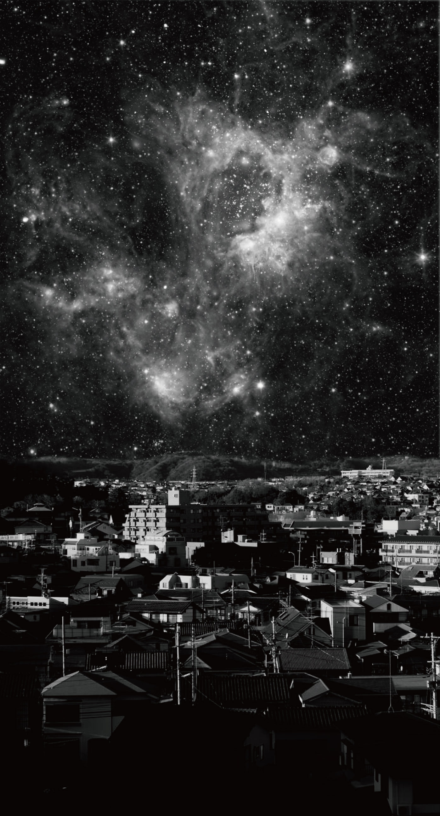 pemandangan malam langit hitam  wallpaper.sc iPhone8Plus