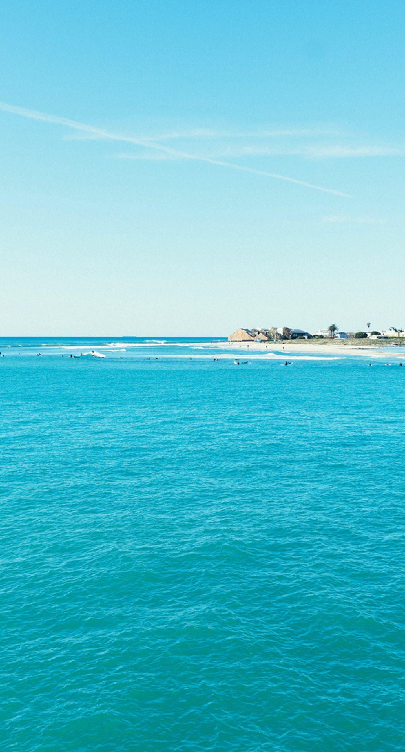pemandangan laut langit biru  wallpaper.sc iPhone8Plus