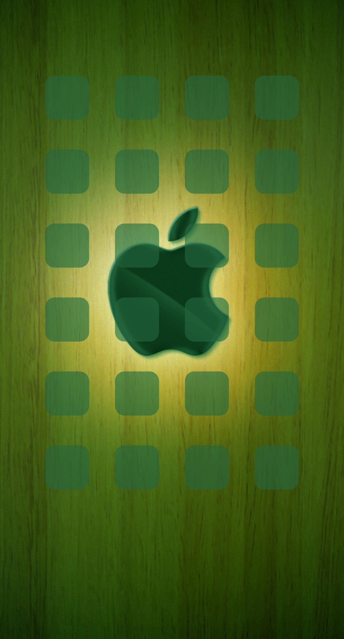 Apple Logo Shelf Cool Plate Yellow Green Wallpaper Sc