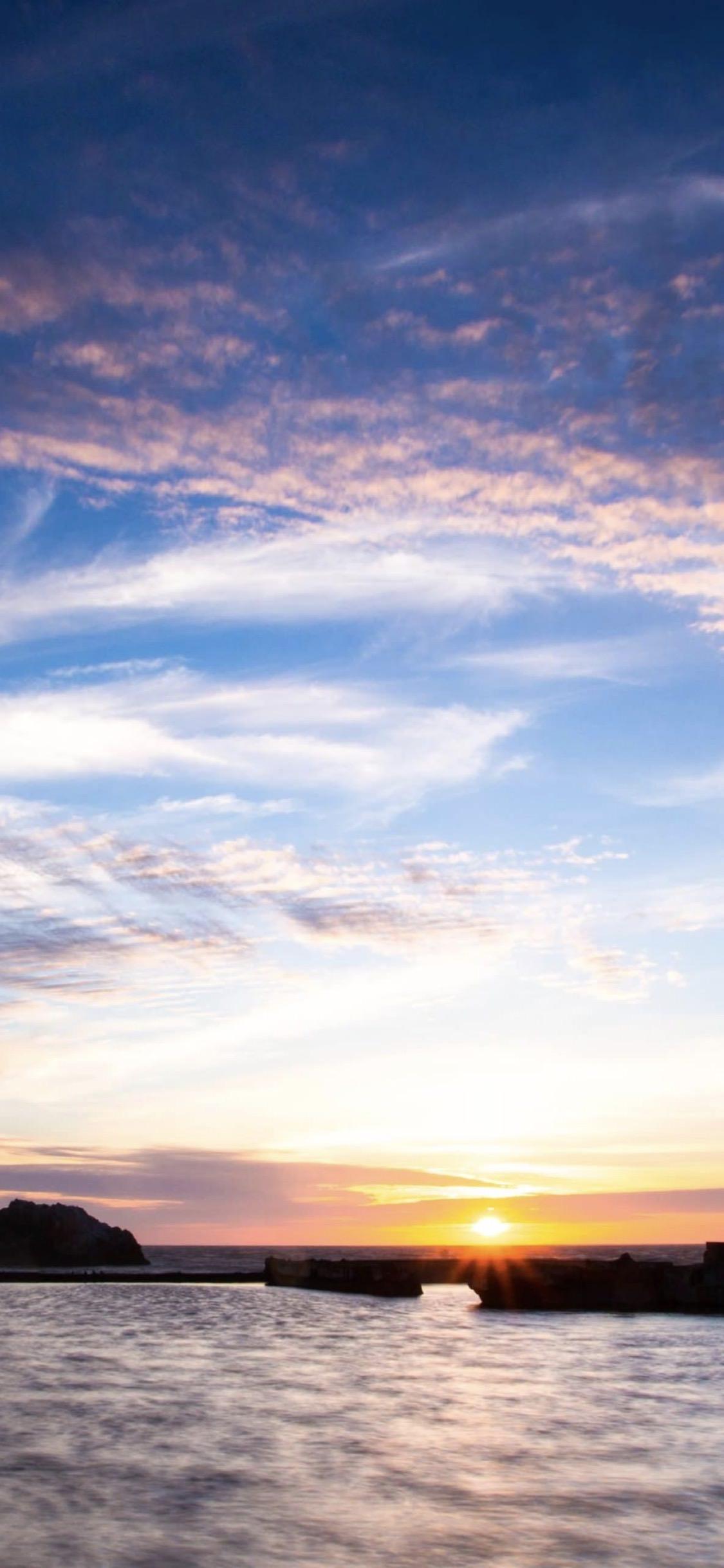 promo code a4d3f 2a5b8 landscape sea sun sky | wallpaper.sc iPhoneXS