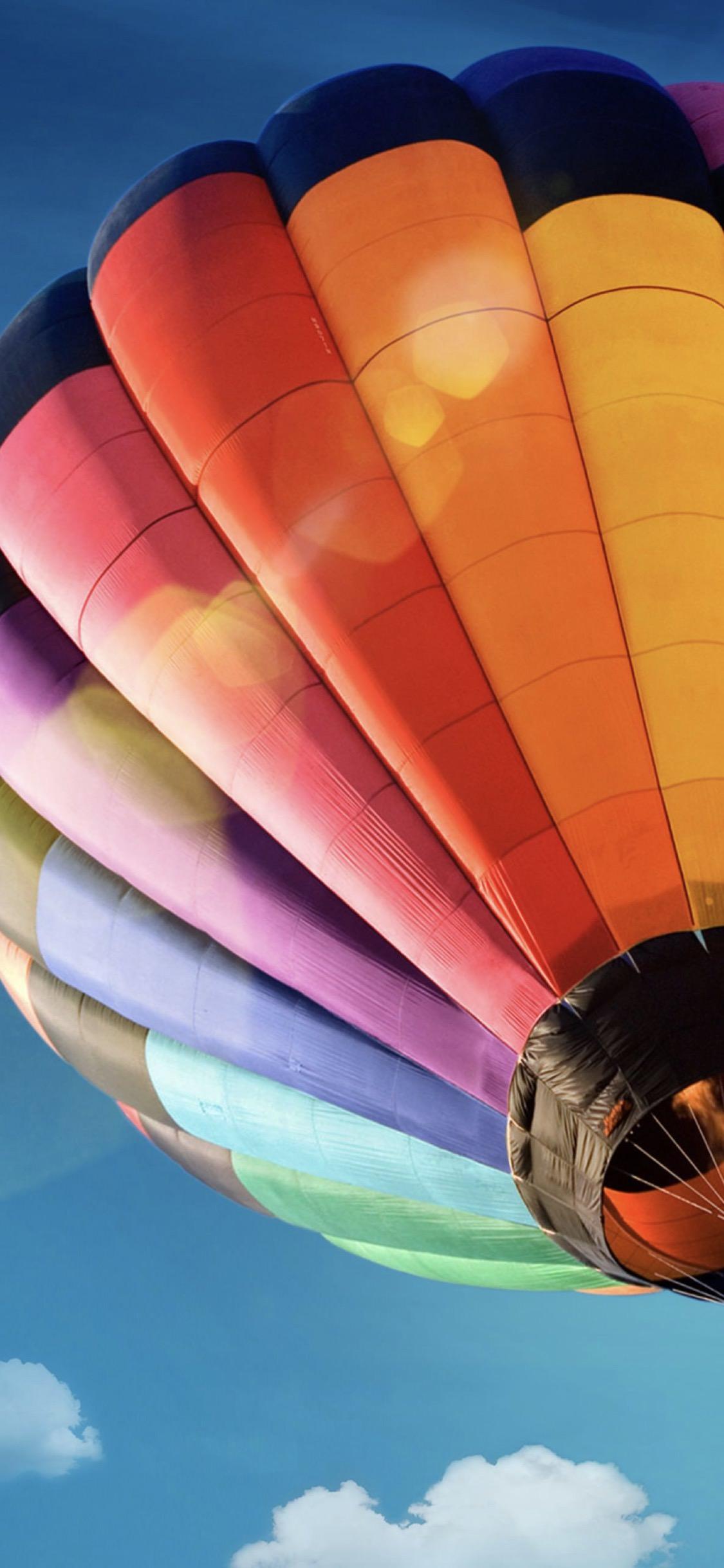 Balloon Colorful Blue Sky Wallpaper Sc Iphonexs