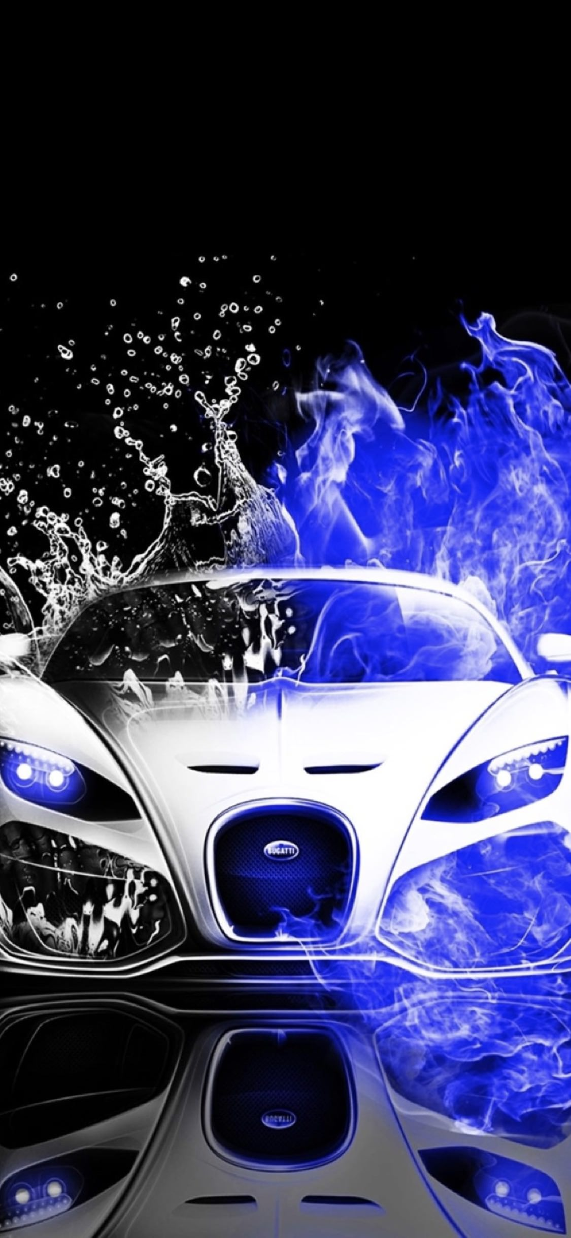 Cool Cars Blue Water Black And White Wallpaper Sc Iphonexs