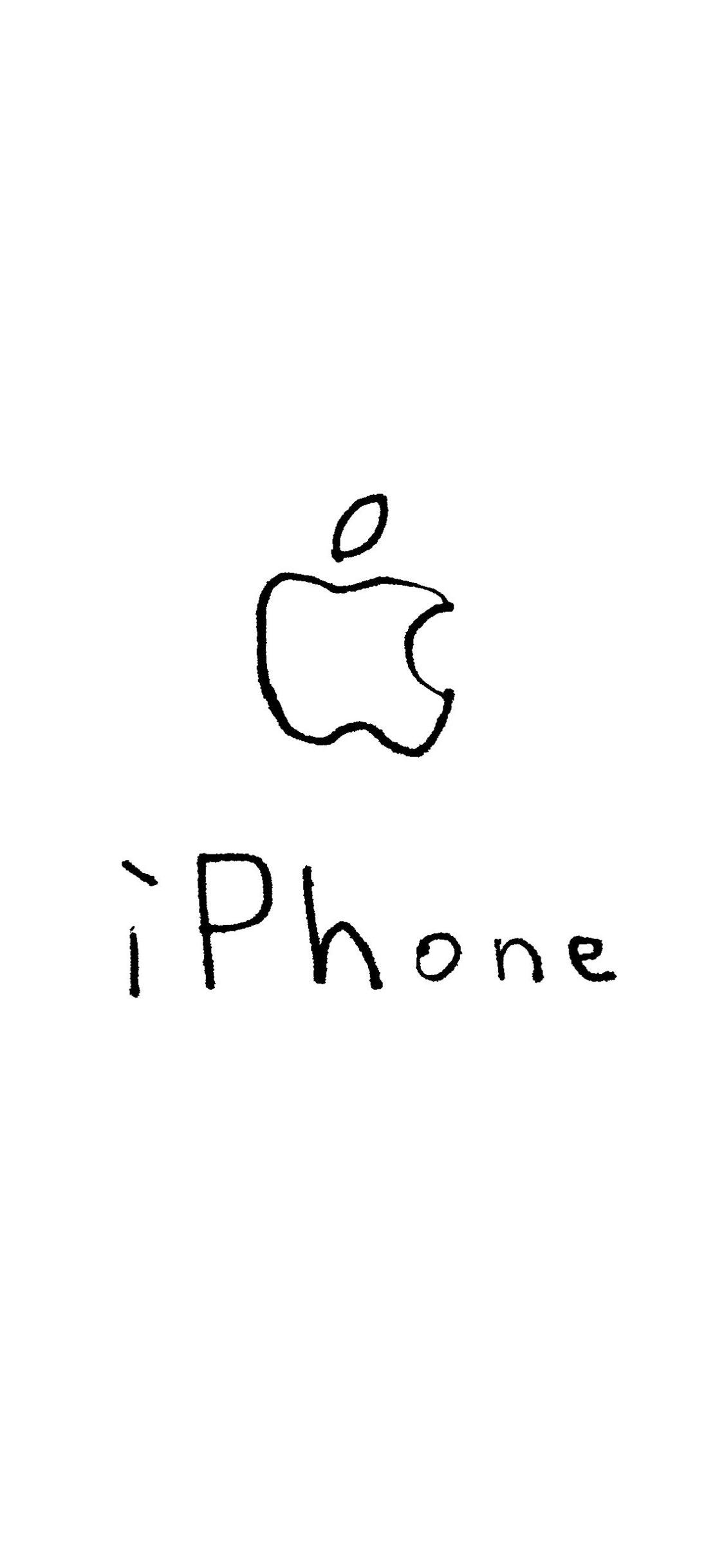 Illustrations Apple Logo Iphone White Wallpaper Sc Iphonexs