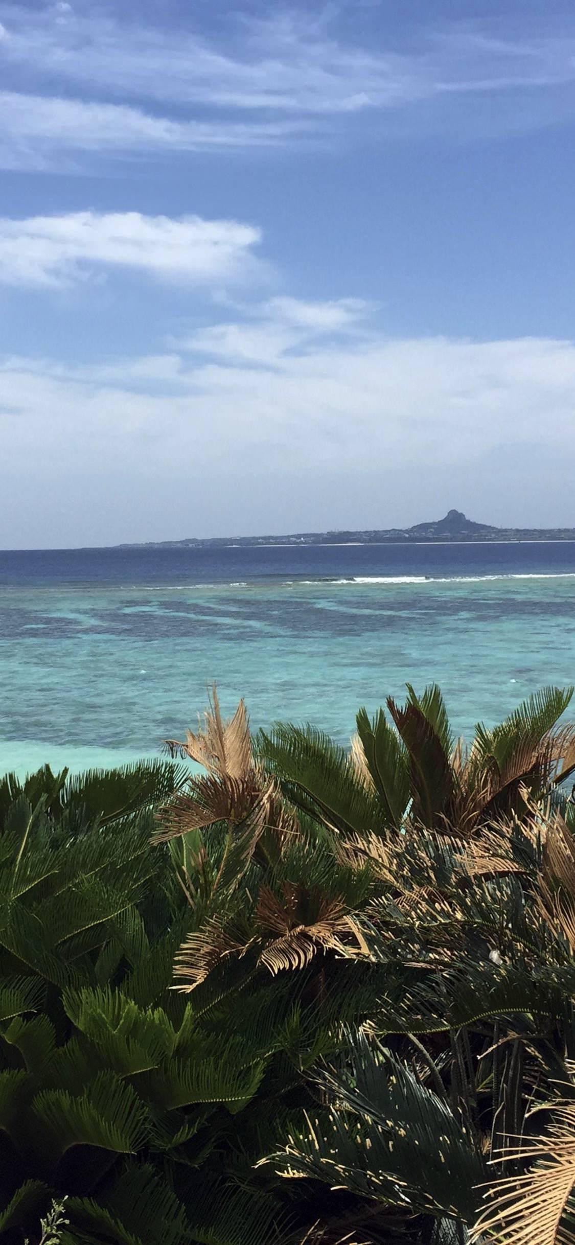 Landscape Sea Tropical Blue Sky Wallpaper Sc Iphonexs