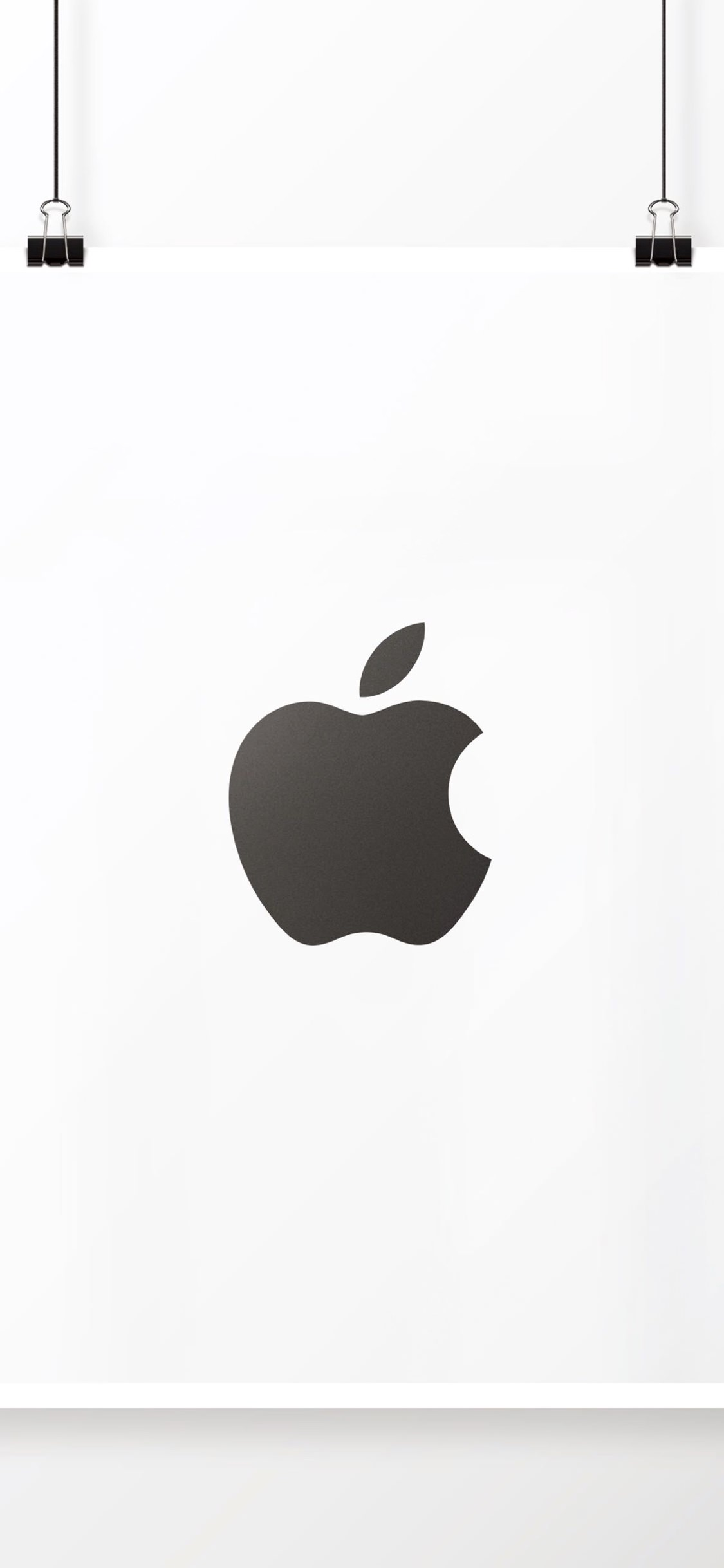 Apple Logo Black And White Cool Poster Wallpaper Sc Iphonexs