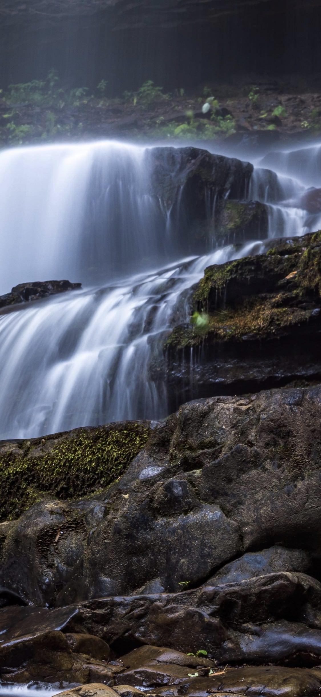 Landscape Waterfall Wallpaper Sc Iphonexs