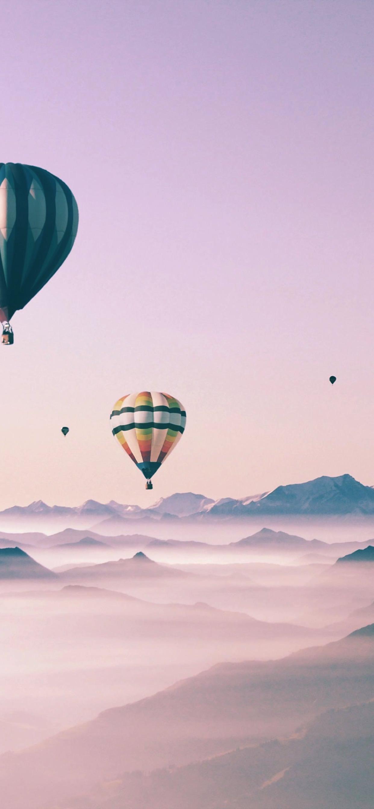 Cute Landscape Sky Balloon For Girls Wallpaper Sc Iphone