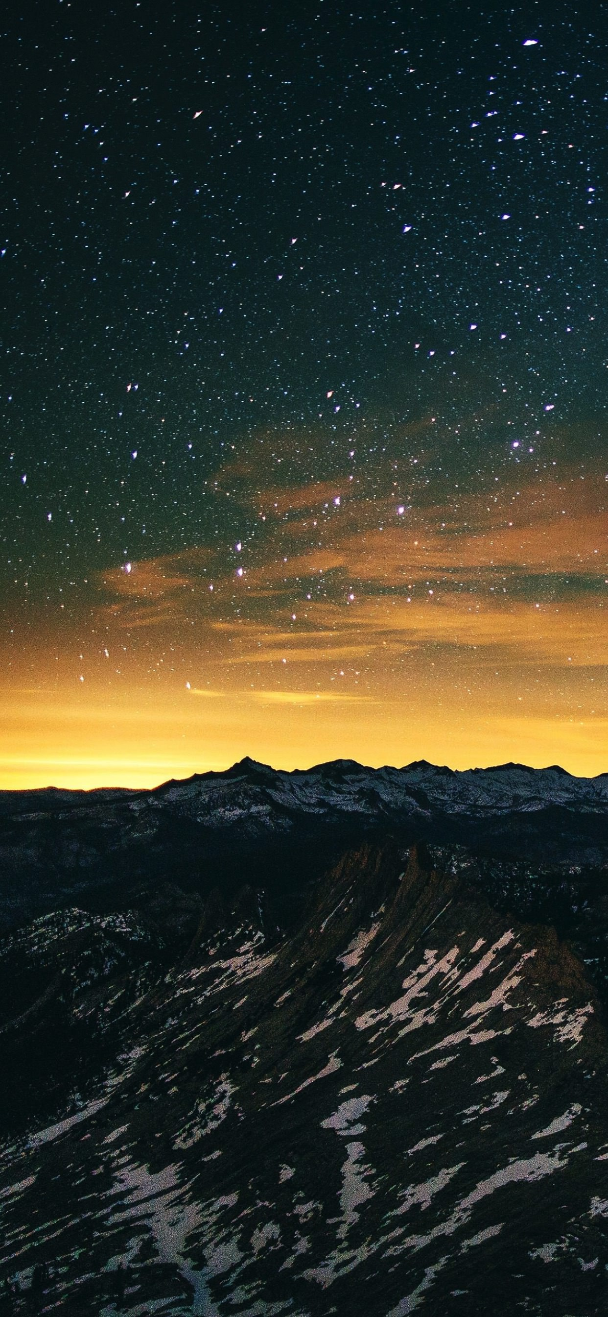 Mountain Landscape Night Sky Wallpaper Sc Iphone Xs Max