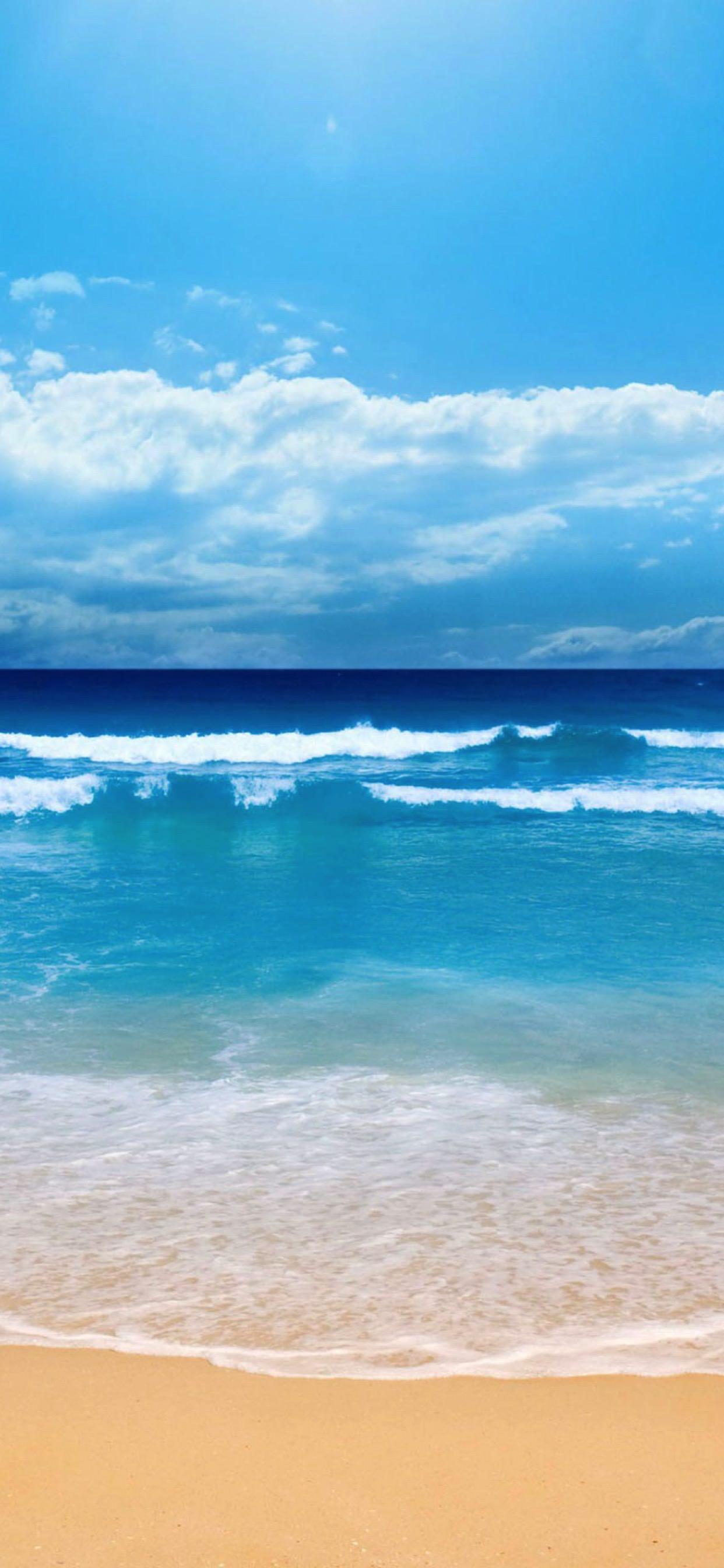 Landscape Sea Blue Sky Wallpaper Sc Iphone Xs Max