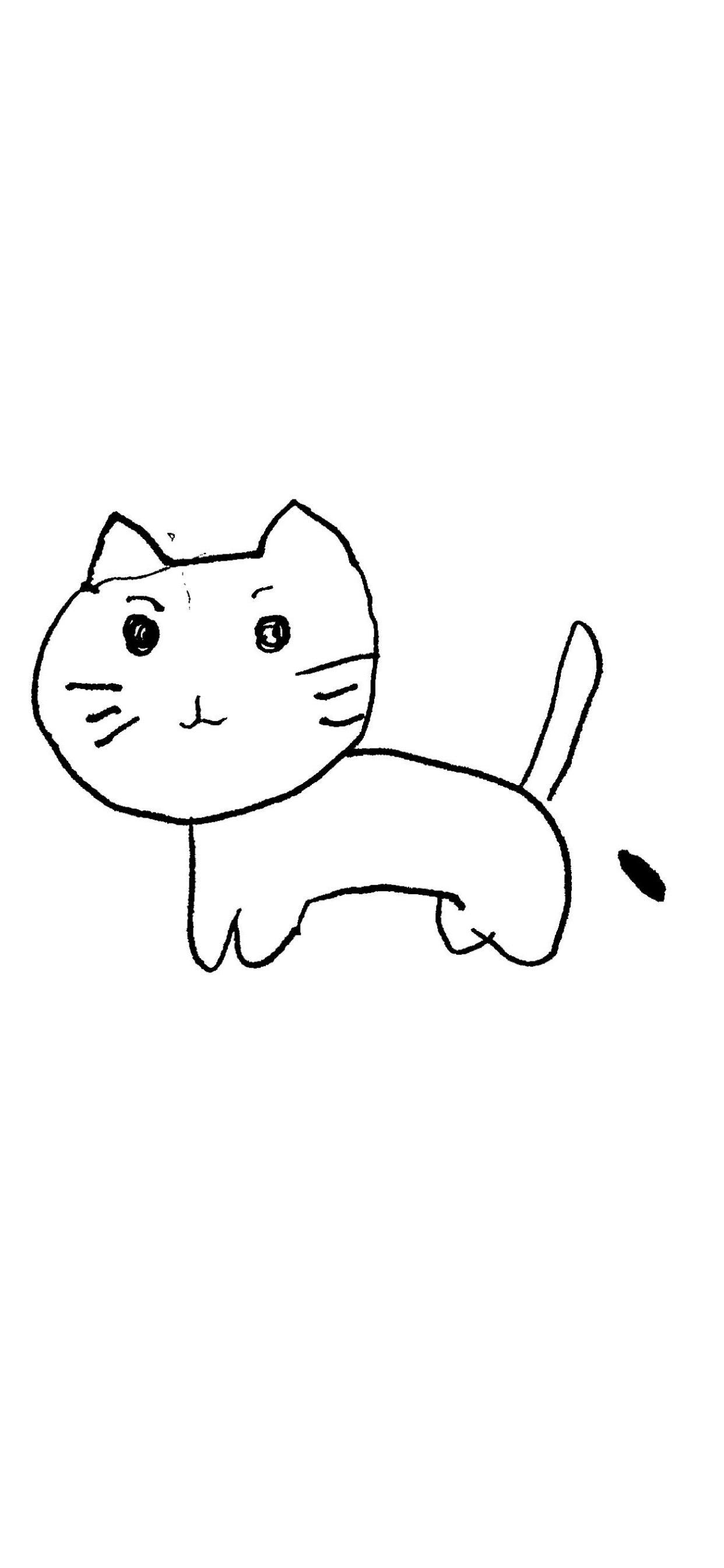 イラスト猫白 Wallpaper Sc Iphone Xs Max壁紙