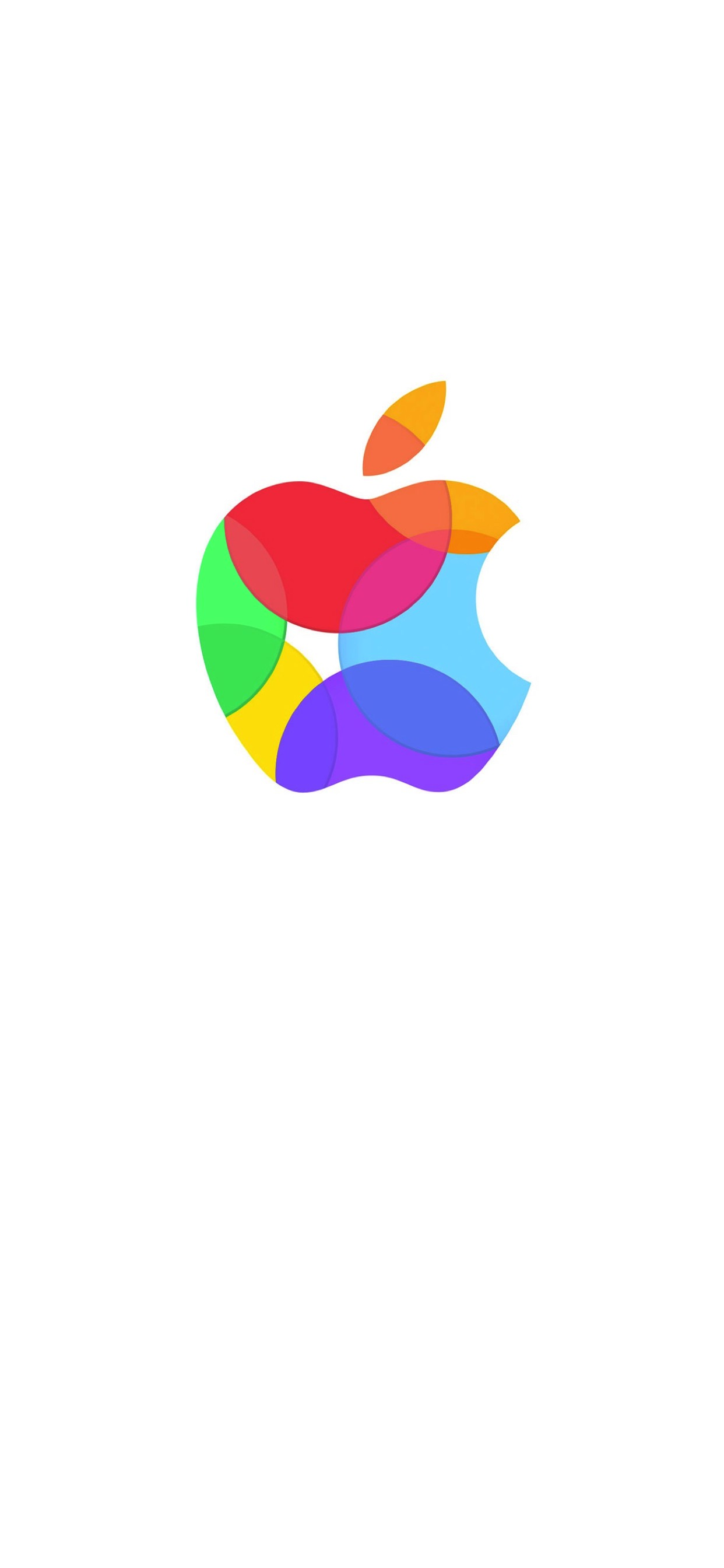 Appleロゴカラフル白 Wallpaper Sc Iphone Xs Max壁紙